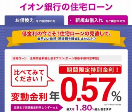 イオン銀行住宅ローン審査厳しい!