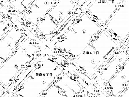日本一高い土地の路線価図