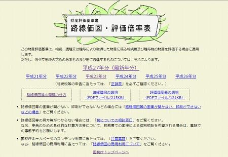 路線価を調べる公式サイトイメージ図