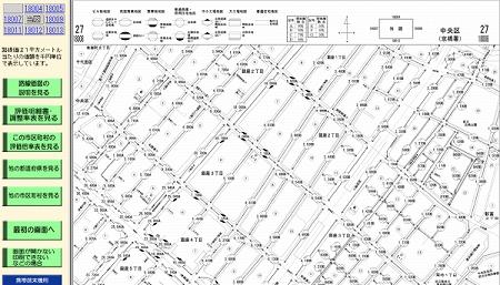 銀座4丁目の路線価図