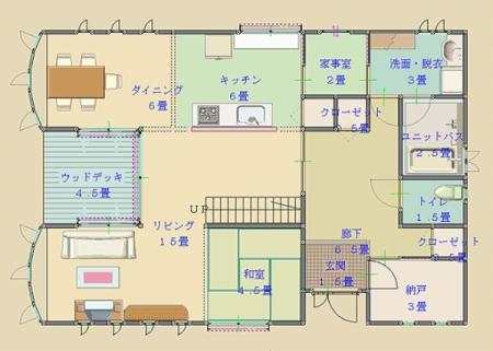 3世帯住宅間取り図